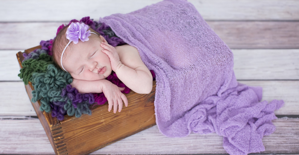 Newborn Shades of Purple