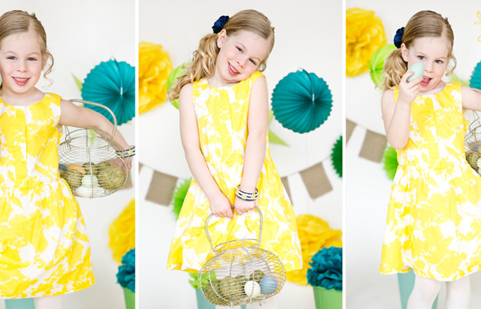 Easter Portrait Fun with Bunnies
