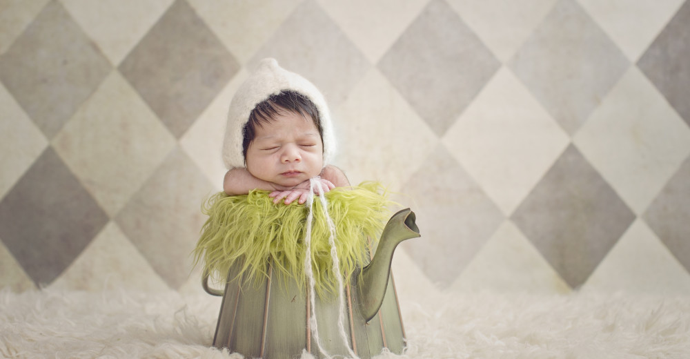 Newborn in Teapot